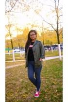 Urban Outfitters jacket - Vans shoes - team manila shirt - Ray Ban glasses