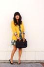 Sky-blue-babydoll-urban-outfitters-dress-yellow-michael-kors-blazer