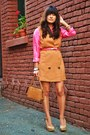 Bubble-gum-silk-polk-a-dot-vintage-shirt-tan-h-m-jumper