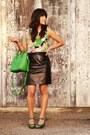 Chartreuse-ibiss-bag-black-vintage-skirt-green-target-heels