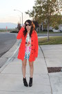 Red-h-m-coat-sky-blue-h-m-blouse-carrot-orange-h-m-skirt