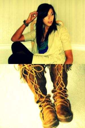 boots - sweater - shirt