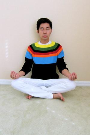 Uniqlo jeans - Prada sweater