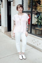 white barstow Jeffrey Campbell boots - white Cheap Monday jeans