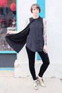 Gold-fluevog-shoes-velvet-forever-21-leggings-black-cape-nasty-gal-shirt
