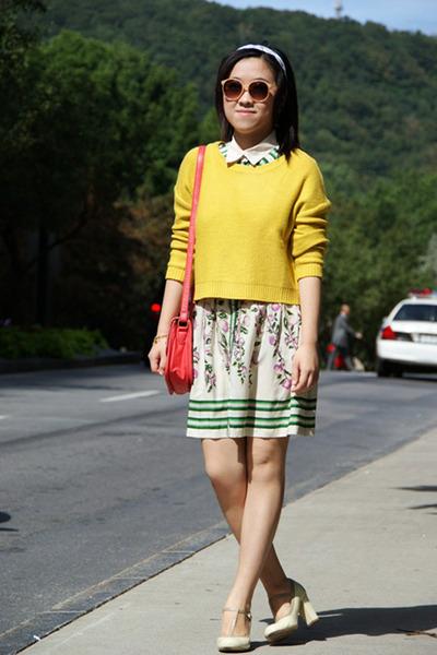 yellow H&M sweater