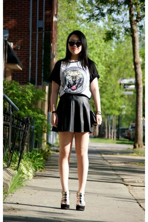 black Forever21 skirt - white H&M t-shirt