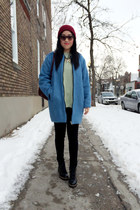 sky blue Topshop coat