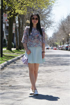violet Urban Outfitters bag - white Topshop sandals