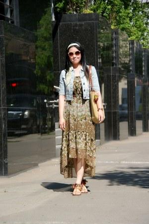 olive green H&M skirt
