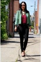 green Top Shop jacket