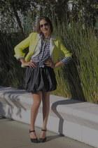navy JCrew skirt - black asoscom skirt - yellow Zara jacket - white Zara vest