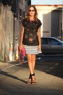 Black-zara-shirt-hot-pink-rebecca-minkoff-purse-white-ann-taylor-skirt