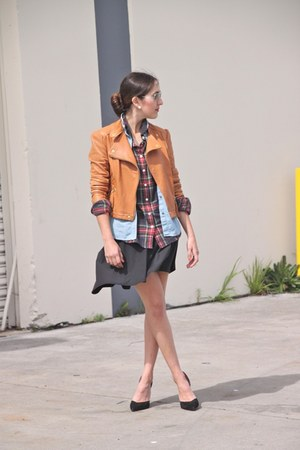 JCrew shirt - madewell shirt - Victorias Secret jacket - asos skirt - Zara pumps