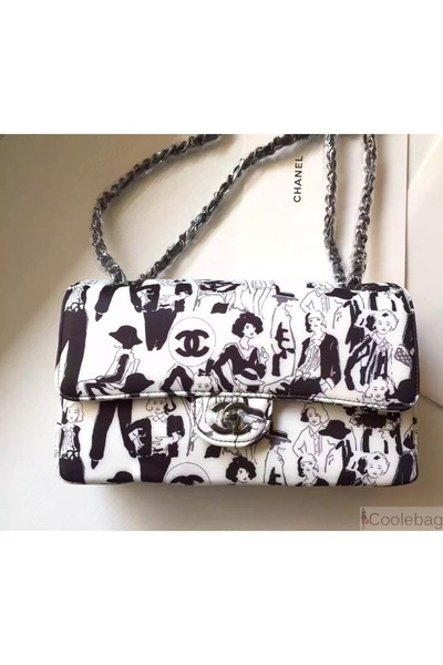 fda3a688f8ee Chanel Limited Edition Karl Lagerfeld Sketches Classic Flap bag. Updated on  Oct 21