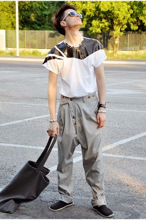 SKEE t-shirt - vivienne westwood pants - bag Rick Owens