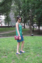 Thakoon for Target dress - Mulberry for Target bag - red Ray Ban sunglasses - bl