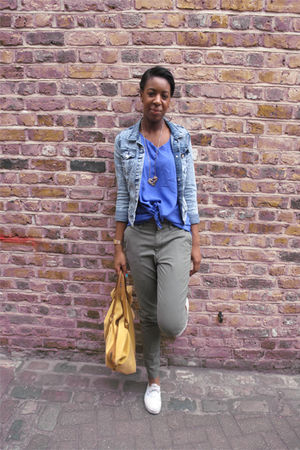 stretch denim H&M jacket - Vans shoes - Story of Lola top - Story of Lola pants