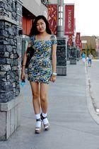Zara dress - Pierre Hardy for Gap shoes