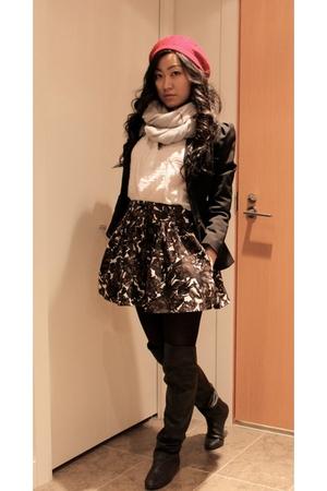 H&M blazer - Zara boots - Forever 21 blouse - Forever 21 skirt