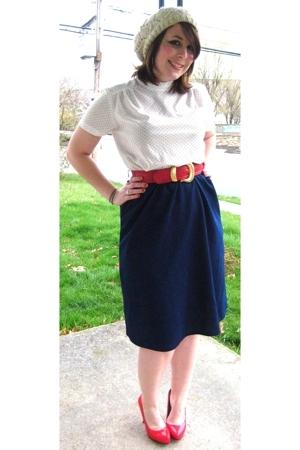 vintage dress - vintage belt