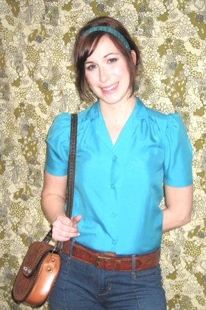 vintage blouse - vintage purse