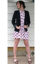 refurbished vintage dress - vintage blazer - vintage shoes