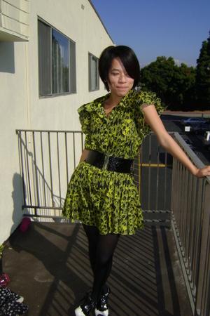 green Forever21 dress