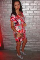 light purple Topshop shoes - hot pink Forever 21 dress