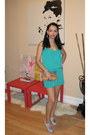 Tan-coach-bag-turquoise-blue-ny-co-romper-light-purple-topshop-heels