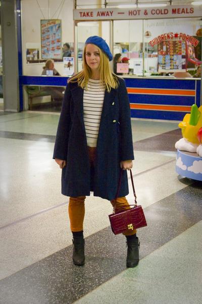 ambush Topshop boots - tba coat - American Apparel hat - Primark bag