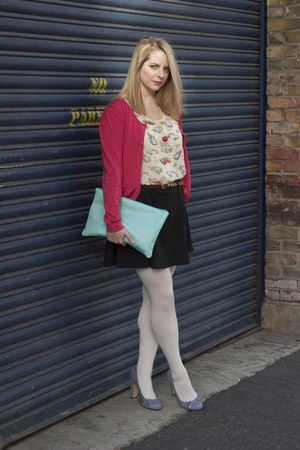 Primark cardigan - American Apparel bag - asos skirt - Monki necklace