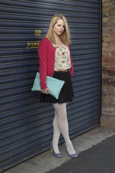 Primark cardigan - American Apparel bag - asos skirt - Monki necklace