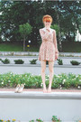 Salmon-stradivarius-dress-beige-no-brand-heels