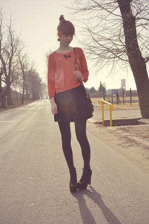 H&M sweater - vintage bag - New Yorker skirt - Stylowe Butki heels