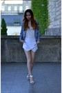 White-banggood-shorts