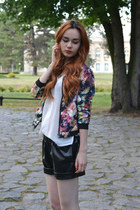 hot pink floral AHAISHOPPING jacket - white BangGood shirt