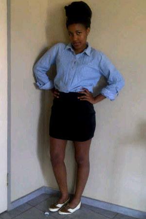 brown Mr Pricce loafers - light blue denim shirt Mr Price shirt