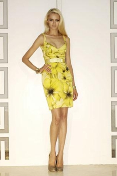 yellow versace dress