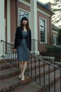Black-classiques-entier-blazer-gray-valette-dress-black-valette-belt-beige