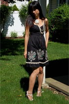 black Floreat dress - white Forever 21 necklace - black Sam and Libby shoes
