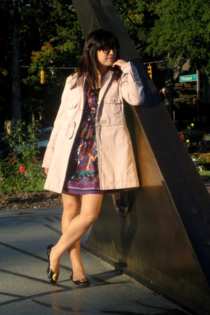 pink Marc by Marc Jacobs jacket - black tory burch shoes