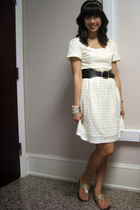 H&M dress - Urban Outfitters belt - H&M bracelet - She shoes - Urban Outfitters