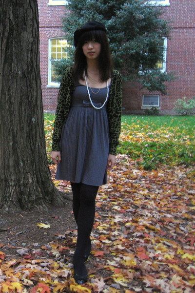 American Apparel hat - H&M dress - Forever 21 necklace - American Apparel socks