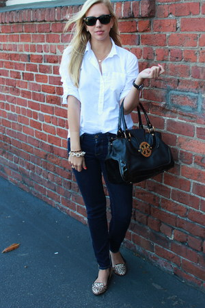 Chanel watch - tory burch jeans - J Crew shirt - tory burch bag