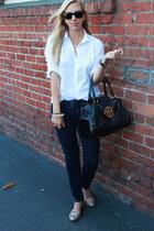 Chanel watch - tory burch jeans - J Crew shirt - tory burch bag