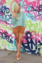 madewell shorts - JCrew top - Rachel Zoe pumps