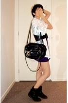top - wang inspired bag - belt - shoes