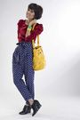 Red-iconia-top-blue-iconia-pants-gold-iconia-gold-iconia-green-iconia-
