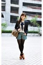floral print Pull & Bear shorts - floral print DKNY shirt